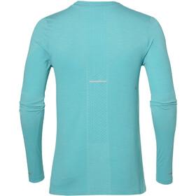 asics Seamless Koszulka do biegania z długim rękawem Mężczyźni turkusowy
